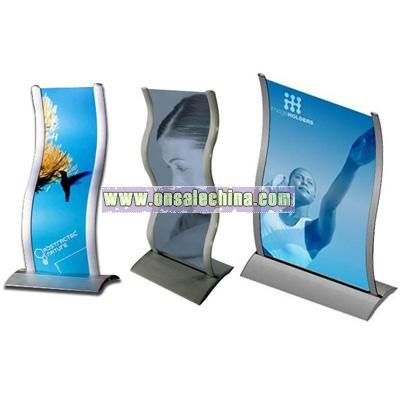 Curved Image Display Stand