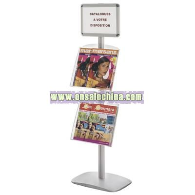 Literature Stand with Poster