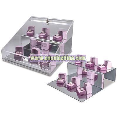 Angled Lockable Acrylic Showcase