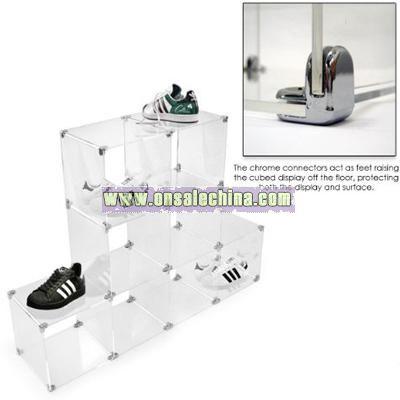 Acrylic Cube Shelving-Shop Fixture