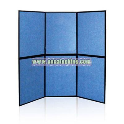 Desktop panel display with fabric panel