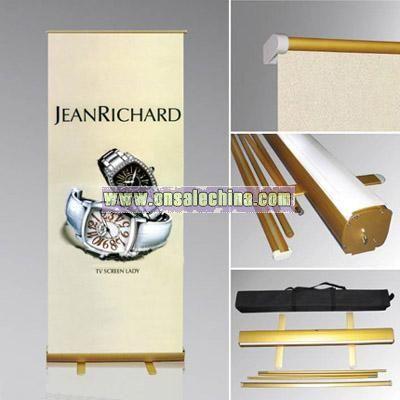 Golden Single Side Roll Banner Display