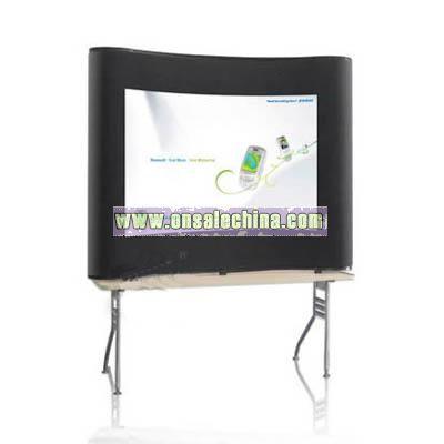 2x2 Curve Desktop Pop Up with fabric panel
