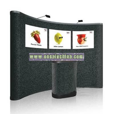 3500714 pop up display,with fabric panel
