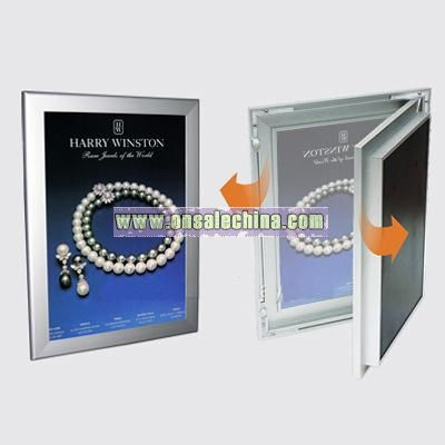 slim light box with snap frame