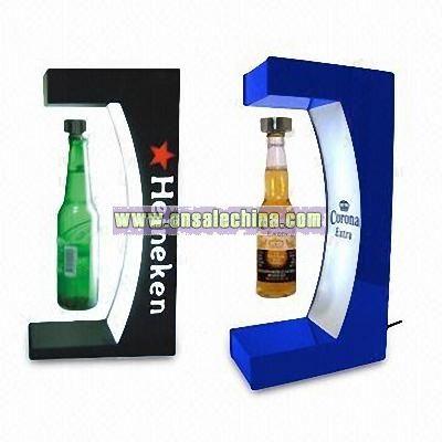 Electro-magnetic Levitation POP Display for Beer Bottle
