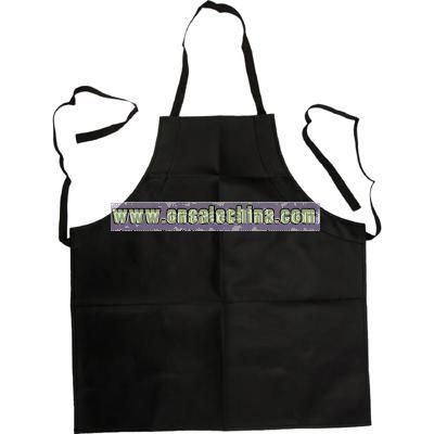 Vinyl apron black waterproof