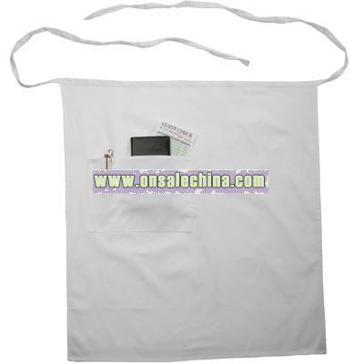 Bistro apron white 65 / 35 poly / cotton twill