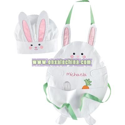 Bunny Apron and Chefs Hat