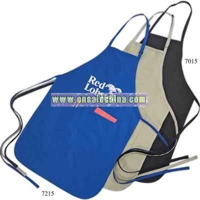 Poly-cotton bib style apron