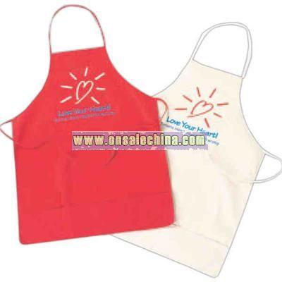 Heavy 10 oz. cotton barbecue apron