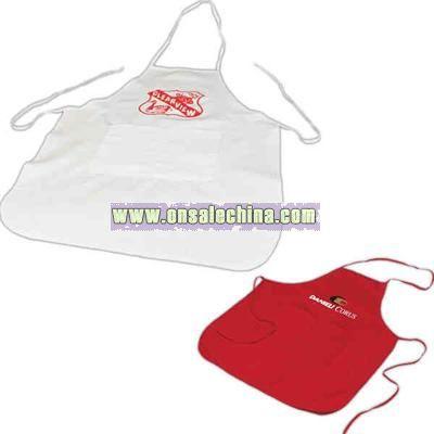 Adjustable 10 oz. cotton apron with center pocket