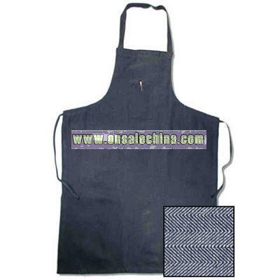 Fisher herringbone neckband apron