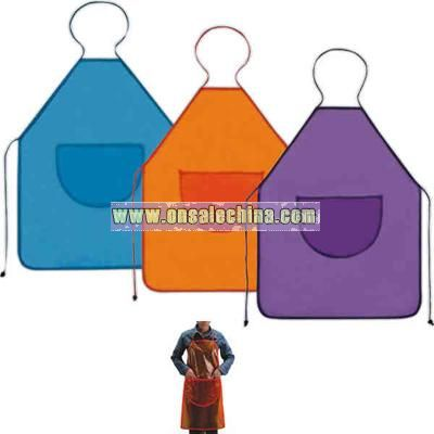 Colored waterproof PVC apron