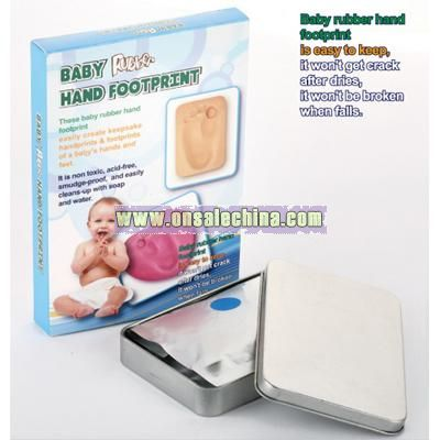 Baby Rubber Hand And Footprint