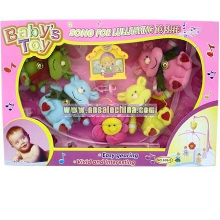 Baby Toys-Musical Box Cow Baby Mobile
