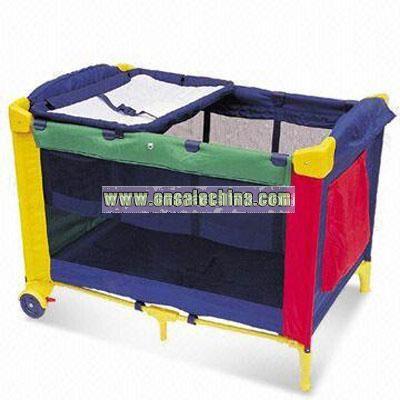 Steel Frame Baby Bed/Playpen