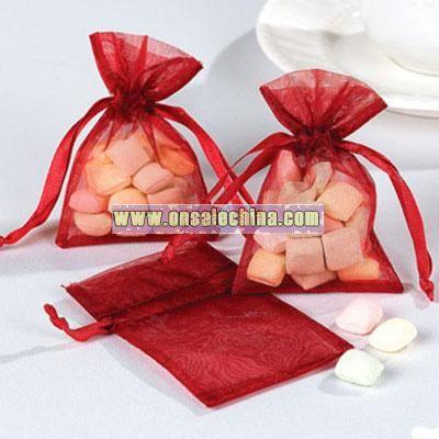 Romantic Rose Mini Organza Bags