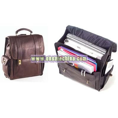Leather Bags Turnlock Backpack
