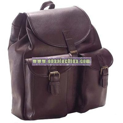 Leather Bags Drawstring Backpack