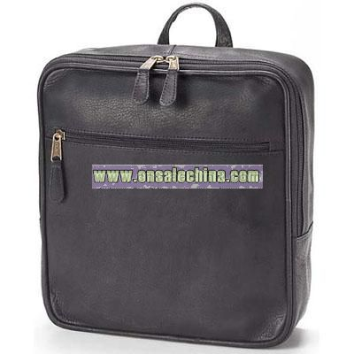 Leather Bags Square Mid-Size Backpack