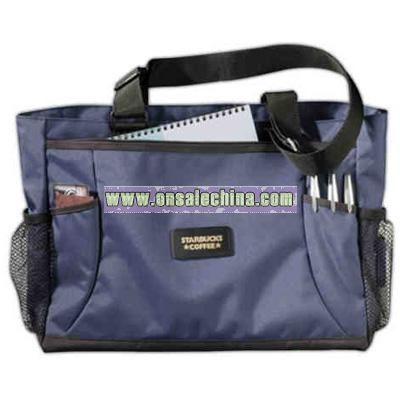 Blue Deluxe Business Tote Bag