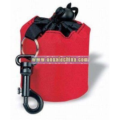 Mini-duffle bag with snap hook