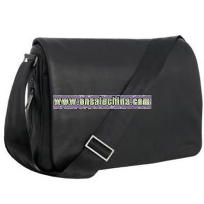 Black leather despatch bag