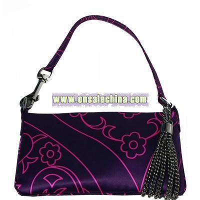 Silk Evening Bag - Purple