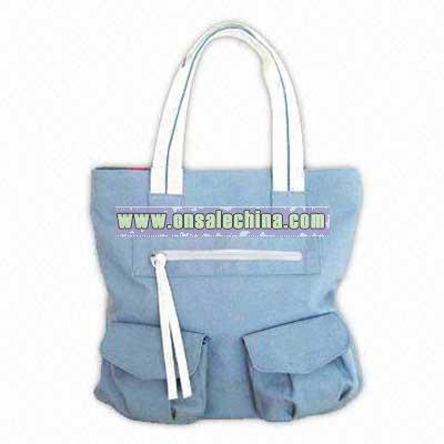 Canvas Handbag with PP Cord Handle