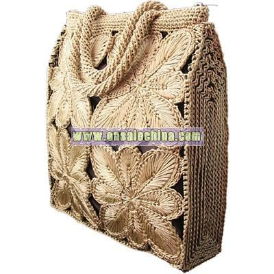 Light Brown Crochet Handbag