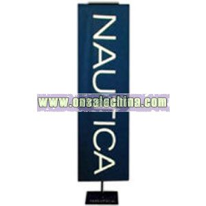Vertical satin podium banner