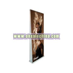 Dual double sided banner