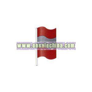 Metallic hula antenna flag