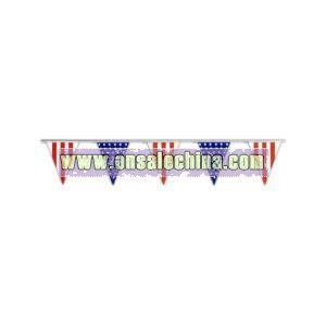 Polyethylene pennant streamers