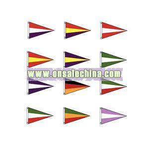 Nylon 3 stripe pennant
