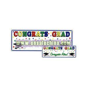 Congrats grad sign banner