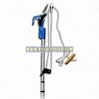 Dual Fulcrum Tree Pruner with Three-section Telescope Pole