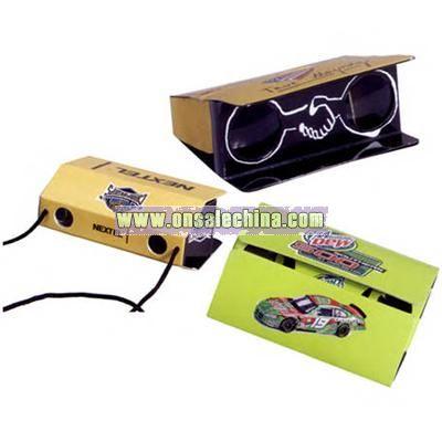 Pocket Size 3x Power Folding Paper Binoculars With Custom Decal