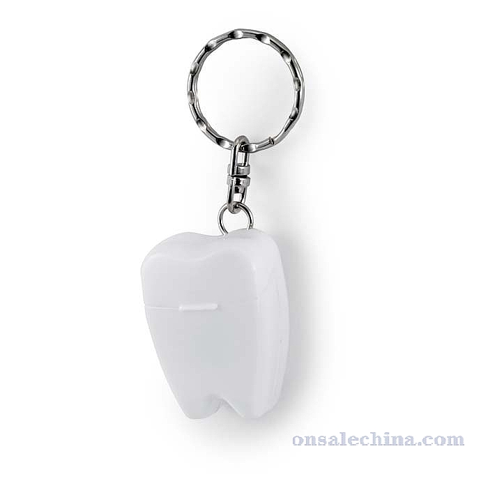 tooth shaped box keychain