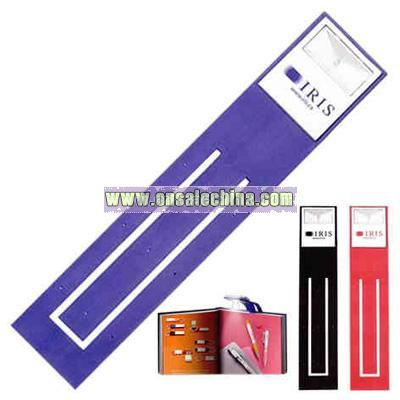 Pliable rubber page marker with LED booklite