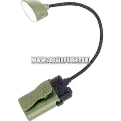 Flexible neck book light with wide spectrum clip