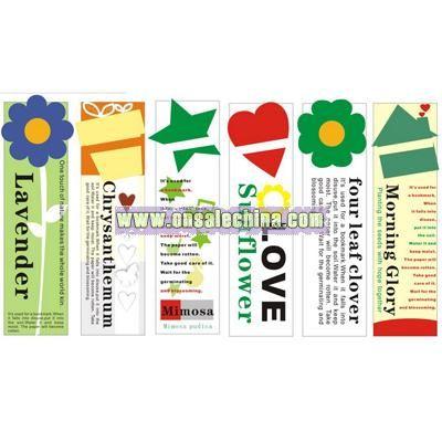 Seed Card-Flower Card-Flower Bookmark
