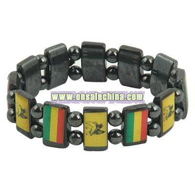 Rasta Magnetic Bracelet - Lion