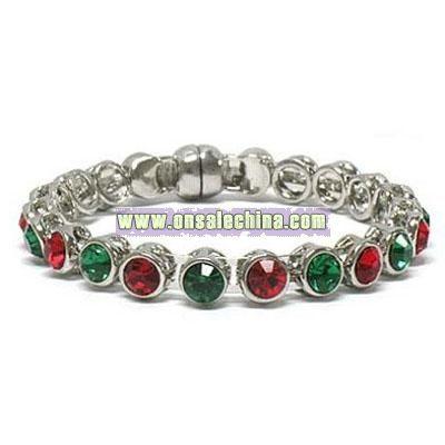 Multi-colored Crystal Magnetic Hinge Bracelet Jewelry