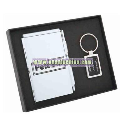 Card holder and key chain set