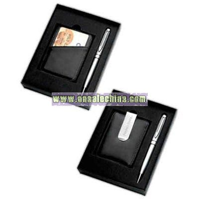 credit card holder money clip. and money clip/credit card