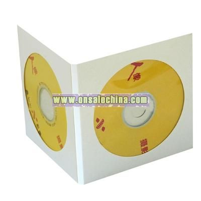 Card envelope with round window