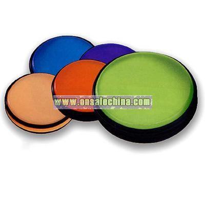 Round Translucent PVC zippered CD/DVD holder