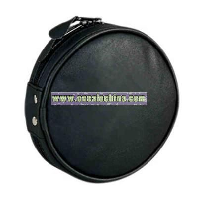 Leatherette round 12 CD case